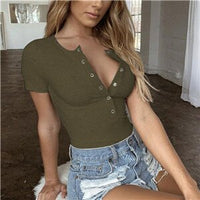 Women Bodycon Jumpsuits Rompers Sexy Short Sleeve Bodysuits 2019 Summer Autumn Black Slim Ladies Stretchy Basic Bodysuit Tops