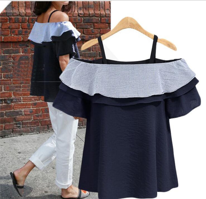 2018 New Brand Maternity Blouse Woman Summer Novelty Large Size Blouse