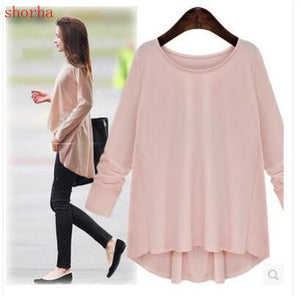 New hot L-5XL Plus Size Shirts Maternity Blouse Long-sleeved Bow Tops Pregnancy Clothes For Pregnant Women Clothing Spring Autum