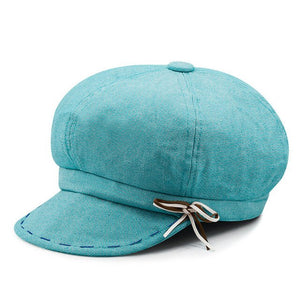 Spring and Summer Lady Fashion Hats Short Brim Peaked Cap Chic Octagonal Caps Woman Outdoors Newsboy Hats