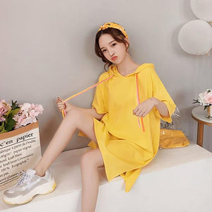 Long T-Shirt Women Summer Cotton Ulzzang Korean Style Oversized T Shirt Harajuku Kawaii Streetwear Plus Size Women Clothing 5H30