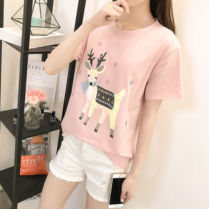 8802 Side Zipper Maternity Mother Nursing T-shirt Summer Breast Feeding T Shirt