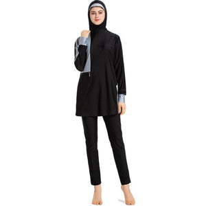Women Full Cover Conservative Chest Pad Modest Muslim Swimwear