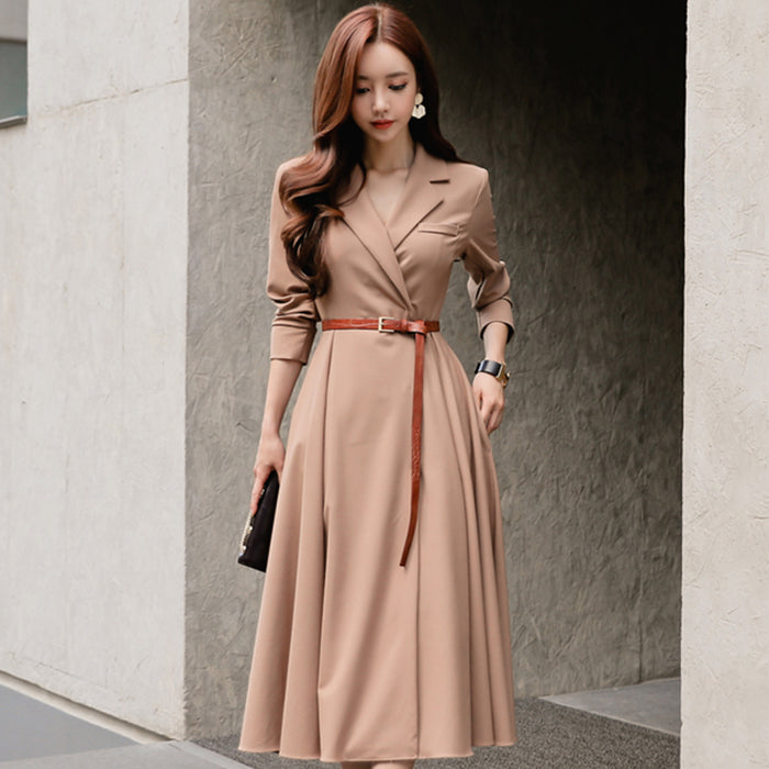 Fashion women temperament dress new arrival high quality full sleeve