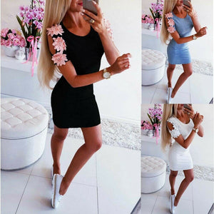 Womens Bandage Bodycon Cold Shoudler Boho Floral Party Cocktail Club Summer Short Mini Dress