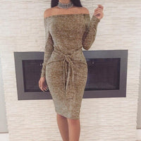 Sexy Fashion Women Long Sleeve Bodycon Casual Party Cocktail Mini Dress