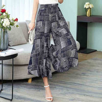 Wide Leg Pants Women Summer 2019 casual print Streetwear High Waist Pants Casual Floral beach Trousers
