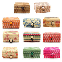 11 Colors Bamboo Wooden Jewelry Storage Boxes Ring Necklace Earrings Storage Boxes High Quality 1PCS