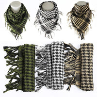 2018 Hot Sale 100% Cotton Thick Arab Scarves Muslim Hijab Shemagh Tactical Desert Men Winter Military Windproof Scarf