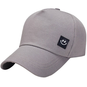 Men's and women's five baseball caps 2019 men and women leather standard smiley