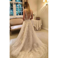 LORIE A-Line Wedding Dresses 2019 Elegant Appliques Lace Bride Dress