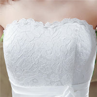 White Lace Tea Length Wedding Dresses Boho Lace Up Back Sweetheart