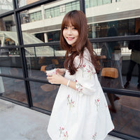 Maternity Clothing China Casual Floral Dress Cotton Loose for Pregnant