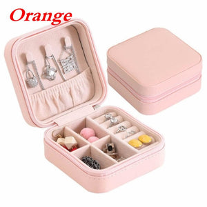 Jewelry Holder for Women Mini stud earrings rings Jewelry Box Useful Makeup Organizer With Zipper Travel Portable Jewelry Box