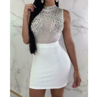 Sexy Women Ladies Bandage Bodycon Sleeveless Dress Evening Party Nightwear Club Summer Short Slim Mini Dress