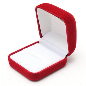 Earring Ring Jewelry Box Classic Vintage Velvet Wedding Jewellery Display Storage Foldable Case Statement Packing Box Shellhard