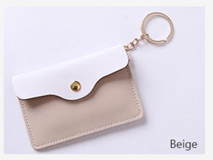 Mini Coin Purse Key Chain Wallet Credit Card Holder Zipper Card Case Coin Change Purse Wallet With Key Ring Card Case Key Wallet