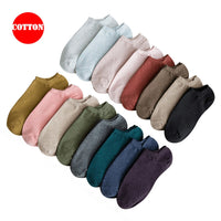 Women Cotton Ankle Socks Casual Socks for Ladies 16 Solid Colors Summer Short Sock Calcetines Mujer 2019 New