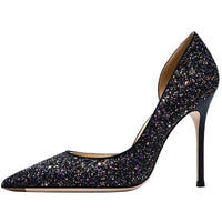 NEW women glitter pointy toe heels shoes 2020