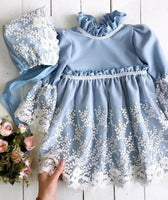 Flower Girl Princess Lace Dress Kid Baby Party Wedding Pageant Gown Formal Dresses