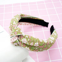 twdvs Top Knot Turban Headband Elastic Hairband Hair Accessories for Girls No Slip Stay on Knotted Head band Hair Band for Women