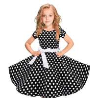 Polka Dot Princess Swing Rockabilly Party Daily Dresses Wholesale