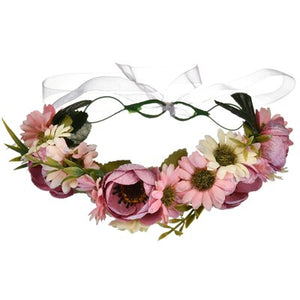 women head garland Fairy flower wreath headband Hair Accessories