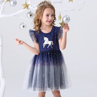 DXTON Girls Clothes 2020 New Summer Princess Dresses Flying Sleeve Kids Dress