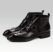 Handmade Hot Crocodile Pattern Mens Dress Boots 2020