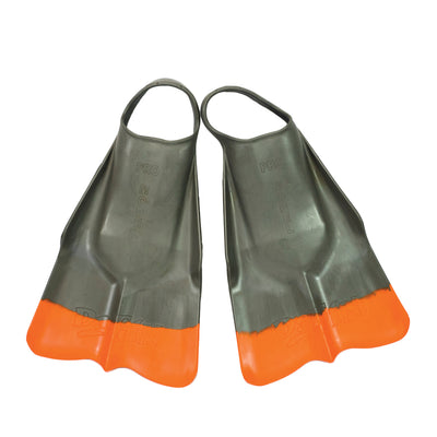 DaFin Swimfins Australia Grey Orange - Flippers, Swimming Flippers