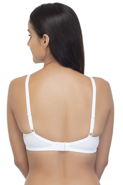 Organic Cotton, High Coverage, Wire Free Padded T-shirt Bra, Foam Pads - BRANDEECOM