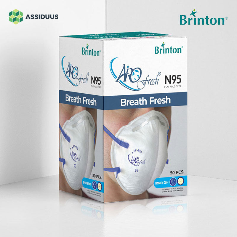AiroFresh A-FF-N95 Flat Fold Type Breath Fresh Face Mask