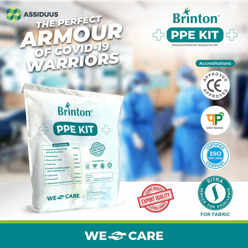 Brinton Disposable PPE (Personal Protection Equipment) Kit