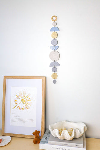 Luxe Baby Blues Wall Hanger