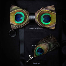 Load image into Gallery viewer, The Classic Peacock - Jack and Miles Bow Tie