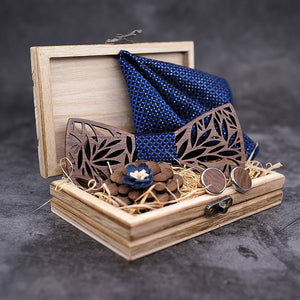 The Luxury Wood Bow Tie Set - Jack and Miles