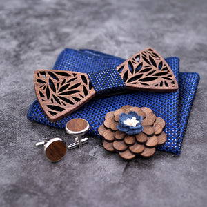 The Luxury Wood Bow Tie Set - Jack and Miles Bow Tie