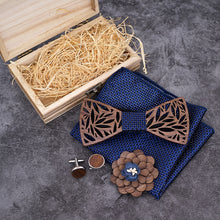 Load image into Gallery viewer, The Luxury Wood Bow Tie Set - Jack and Miles