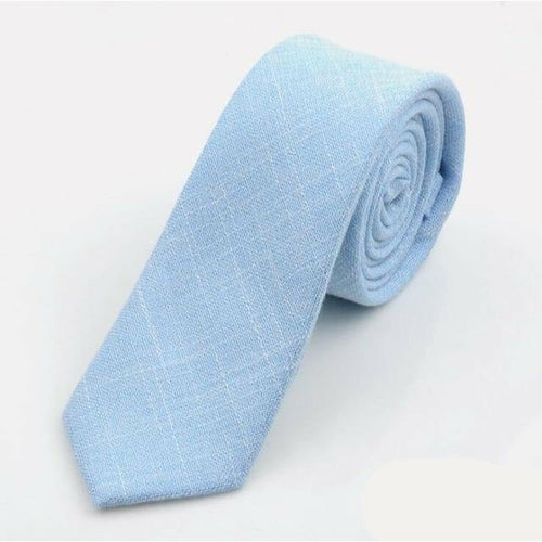 Sky Blue Linen - Jack and Miles Bow Tie