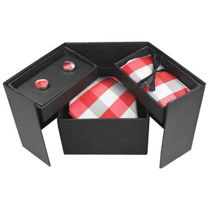 Tie Box Collection-Red Checkered - Jack and Miles