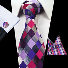 Load image into Gallery viewer, Tie Box Collection- Pink Checkered - Jack and Miles Bow Tie