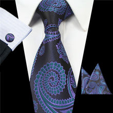 Load image into Gallery viewer, Tie Box Collection-Black and Blue Paisley - Jack and Miles