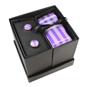 Tie Box Collection- Lavender Plaid - Jack and Miles