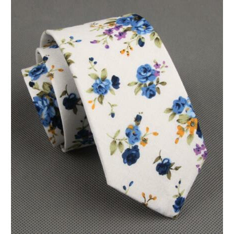 White Floral - Jack and Miles Bow Tie
