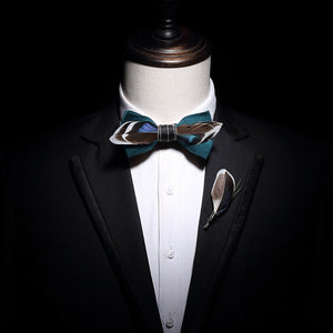 The Gatsby - Teal - Jack and Miles Bow Tie