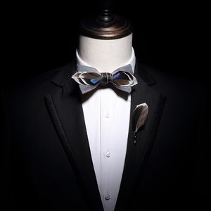 The Gatsby- Gray - Jack and Miles Bow Tie