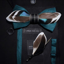 Load image into Gallery viewer, The Gatsby- Teal - Jack and Miles Bow Tie