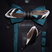 Load image into Gallery viewer, The Gatsby - Teal - Jack and Miles Bow Tie
