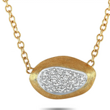 Marco Bicego Marco Bicego 18K Yellow Gold Diamond Pendant Chain Necklace