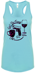 Coffee, Guns, Wine - Cancun Racerback Tank